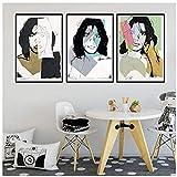 Rzhss Andy Warhol Mick Jagger Naturaleza Muerta Cartel De Arte Abstracto Impresión Lienzo Cuadro De Pintura De Pared Para La Decoración Del Hogar De La Habitación -20X28 Inx3 Sin Marco