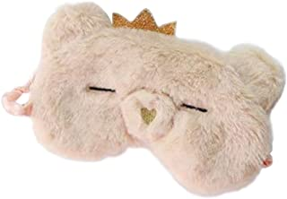 Heart Pig Nose Sleep Eye Mask Plush Eye Shade Blindfold for Home Travel Rest