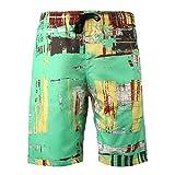 Pantalones Cortos para Hombre con Estampado de Tendencia Streetwear Casual de Secado rápido al Aire Libre Camping Vacaciones Sueltos Pantalones Cortos de Playa de Gran tamaño Verano XXL