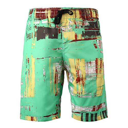 Pantalones Cortos para Hombre con Estampado de Tendencia Streetwear Casual de Secado rápido al Aire Libre Camping Vacaciones Sueltos Pantalones Cortos de Playa de Gran tamaño Verano XL