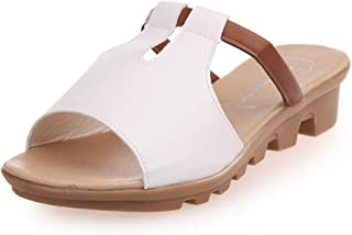 KANGMOON Summer Women Shoes Wedges Casual Slippers Thick Bottom Female Fish Mouth Sandals