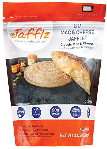 Jafflz Vegetarian Ready-to-Eat Pre-Made Sandwiches Healthy Breakfast Sandwiches Frozen Gourmet Frozen Appetizers Toasted Pocket Sandwiches - 12 Count (Lil Mac Jaffle)