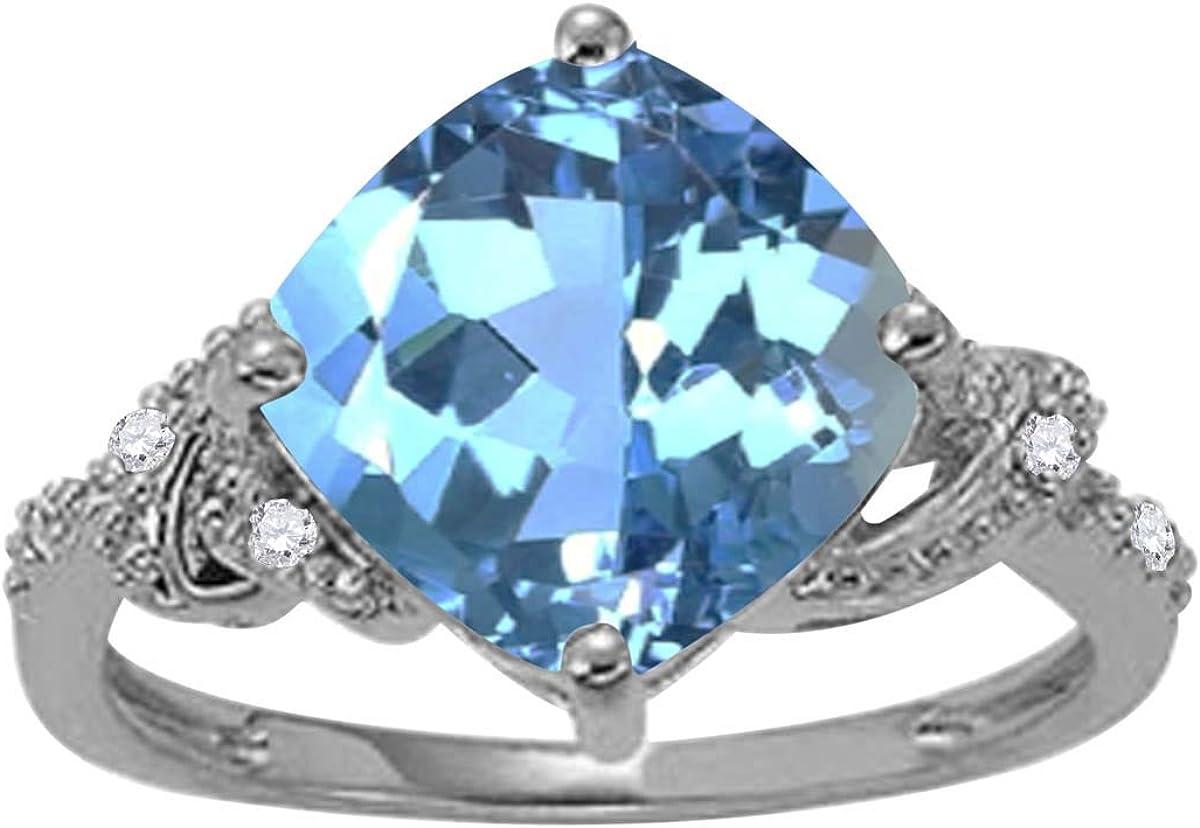 Max 75% OFF MauliJewels Rings for Women 3.28 Carat and Bargain Shape Diamond Cushion