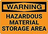 Mesllings Segnale di Sicurezza in Metallo, Materiale Pericoloso, Area di stoccaggio 20,3 x 30,5 cm