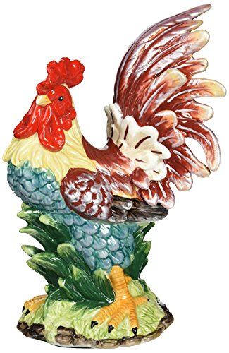 Appletree Design A Day in the Country Rooster Figurine, 11-Inch Tall