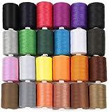 HAITRAL Hilo de coser, 24 colores, hilo de algodón, 1000 yardas para máquina de coser, manualidades, varios colores