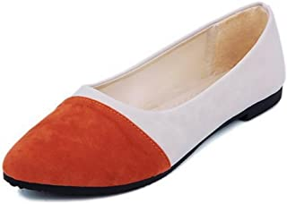 11f701a64184 Women s Pointed Ballet Flats Multicolor Moccasins Dressy Black Classic Driving  Shoes