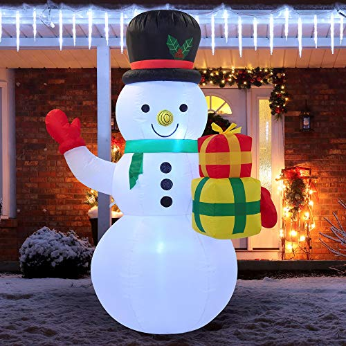Joiedomi Christmas Inflatable Decoration 5 FT Snowman Christmas with Build-in LEDs Blow Up Inflatables for Xmas Party Indoor, Outdoor, Yard, Garden, Lawn Winter Decor.