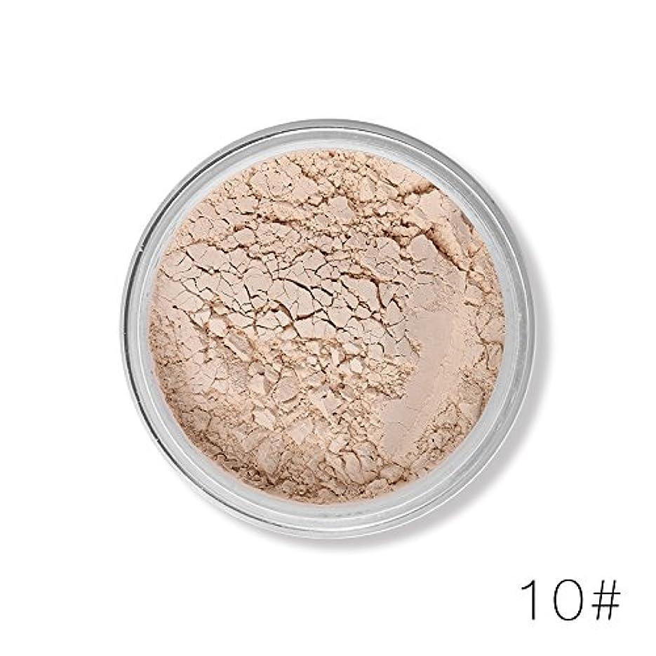 絶滅させる極貧継続中(10#) 12 Colors Face Foundation Makeup Transparent Loose Powder Oil-control Silky Setting Powder Mineral Matte Finish Tools