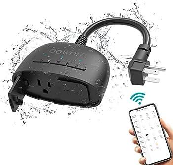 Oowolf IP64 Waterproof Outdoor Smart Plug with 2 Sockets