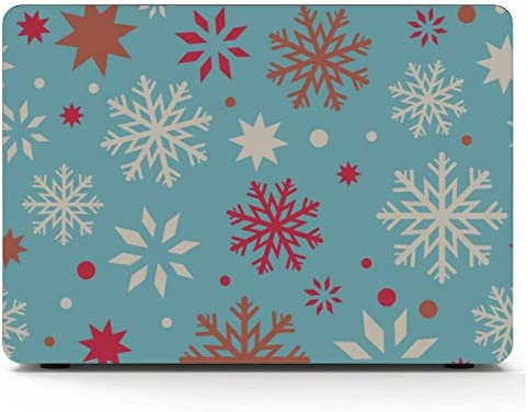 A1466 MacBook Air Case Romantic Holiday Christmas Snowflake Plastic Hard Shell Compatible Mac product image