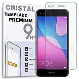 REY Protector de Pantalla para Huawei P9 Lite Mini/Huawei Y6 Pro 2017, Cristal Vidrio Templado...