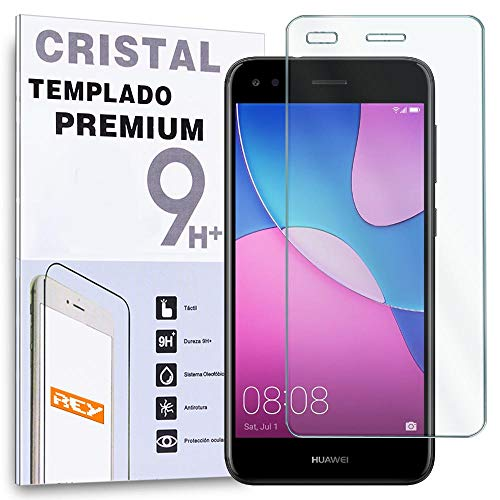 REY Protector de Pantalla para Huawei P9 Lite Mini/Huawei Y6 Pro 2017, Cristal Vidrio Templado Premium