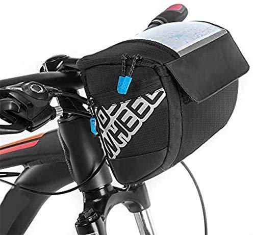 Taek-cheon Bolsa de Bicicleta, Bolsa Delantera, Bolsa de Manillar, Bicicleta de montaña Teléfono móvil Pantalla táctil Tapa Bolsa de Tubo, Accesorios para Montar en Bicicleta de Carretera de montaña
