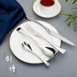 WHWH Set de Cubiertos Acero Inoxidable,Creative Stainless Steel Cutlery Fork and Spoon