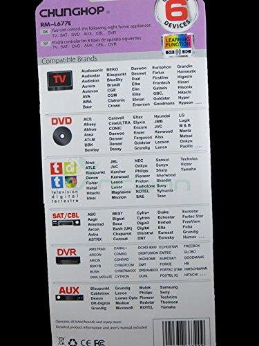Mando a distancia universal rm-l677e TV búsqueda automática código hasta 6 dispositivos: Amazon.es: Electrónica