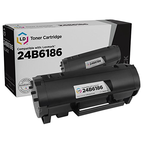 LD Compatible Toner Cartridge Replacement for Lexmark 24B6186 (Black)