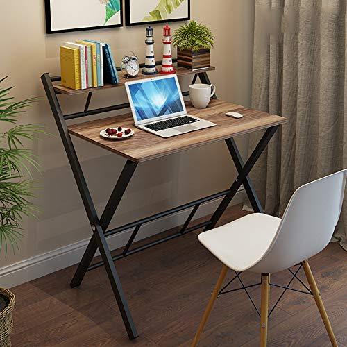 Mesa De Escritorio Plegable para Computadora PortáTil, Scritorio De Estudio Moderno, Mesa Multifuncional para Estudio, Escritura, Oficina En Casa, EstacióN De Trabajo,B