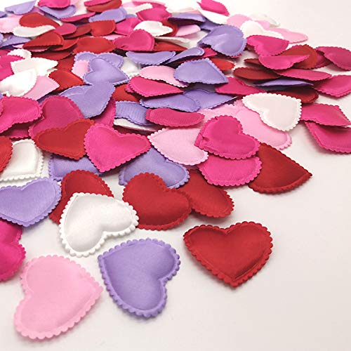 Grunyia Heart Confetti Decoration - Romantic Decor for Valentine's Day,Mother's Day,Birthday,Anniversary,Thanksgiving,Christmas,New Year (400PCS Mix)