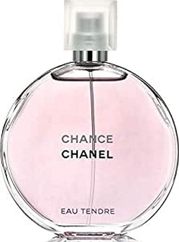 Chanel chance, eau tendre con vaporizzatore,100 ml,profumo per donna,eau de toilette da donna 11500-126310