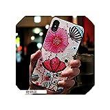 新しい携帯電話ケース適用iphonexsMAXマットシリコーンソフトシェル創造的な落下防止オールインクルーシブ保護カバーアップル,エキゾチックな花,適用iphone 11 Pro Max