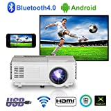 Proiettore WiFi Leggero e portatile Con Bluetooth, proiettore per esterni e Home...