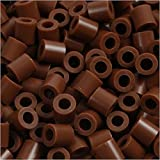 PhotoPearls, tamaño 5x5 mm, tamaño del agujero 2,5 mm, chocolate (27), 6000pcs