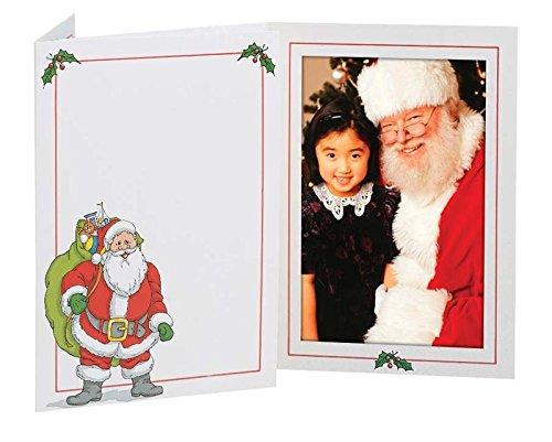 탭 - 4X6 사진용 산타 사진 폴더 - 25팩