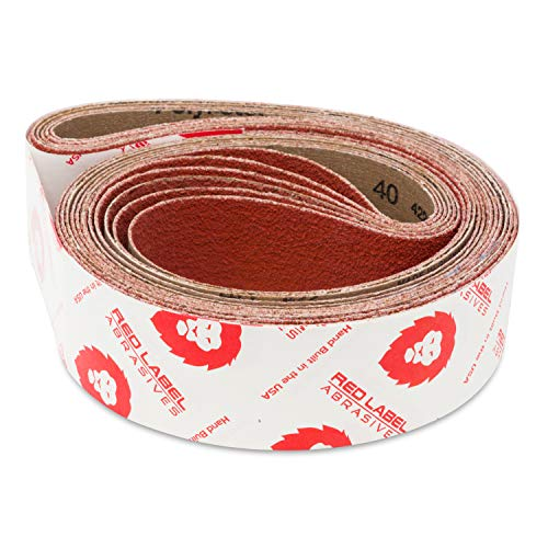 Red Label Abrasives 2 X 42 Inch 80 Grit Metal Grinding Ceramic Sanding Belts, Extra Long Life, 6 Pack