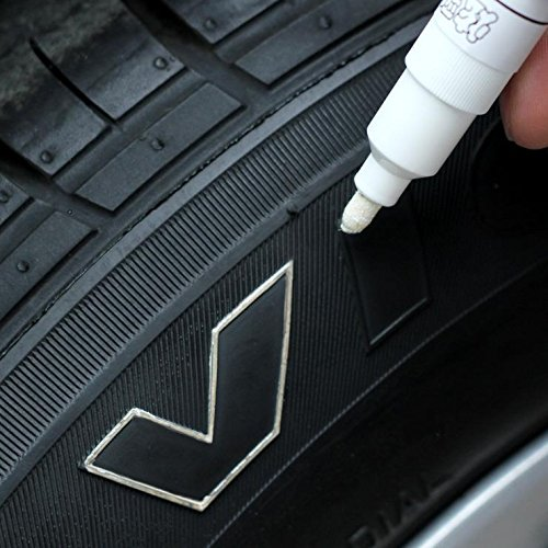 Tyre Marking Pen Paint Raised Rubber White Wall Sport Racing car Look