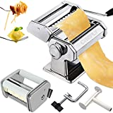 CHEFLY Pasta & Ravioli Maker Set All in one 9 Thickness Settings for Fresh Homemade Lasagne...