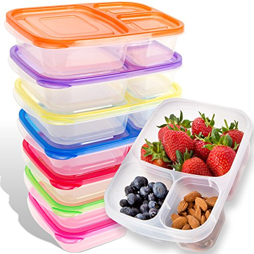 Bento Lunch Box | Meal Prep Containers | 7 Pack | Leak Proof...