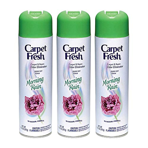 Carpet Fresh No Vacuum Foam Carpet Refresher, Morning Rain 10.50 oz (Pack of 3)