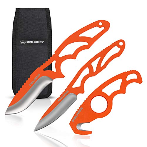 Field Dressing Kit for Hunters, Anglers. 3-Piece Skinning Knives