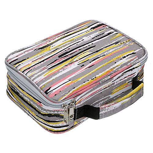 BTSKY New High Capacity Zipper Pens Pencil Case with Pattern-Multi-functional Stationery Pencil Pouch 36 Large Stretchy Slots for 72 Colored Pencils(Stripe)
