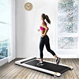 UMAY Under Desk Treadmill for Home & Office with Foldable Frames Walking Pad Small Flat Treadmill Machine with Low Noise & Sports App for Small Spaces