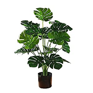 LBYJ Artificial Potted Plants,Bonsai Plant Simulation Banana Tree, Simulation Tree, Indoor Garden Home Office Decoration Bonsai Potted Plastic Simulation Tree Fake Plant Artificial Bons