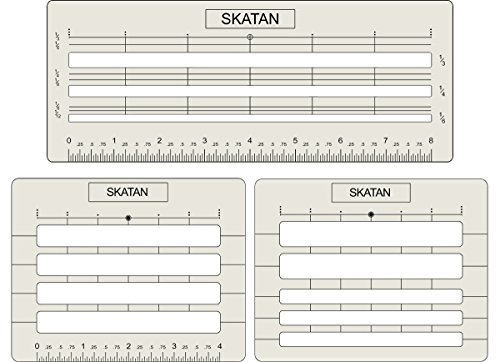 SKATAN Lettering and Envelope Addressing Guide, 3 Stencil Templates-in-1, fits a Wide Range of Stationery and Envelopes