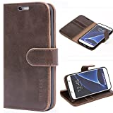 Mulbess Funda para Samsung S7, Funda Cartera Samsung Galaxy S7, Funda Libro para Samsung Galaxy S7 con Tapa, Vintage Marrón