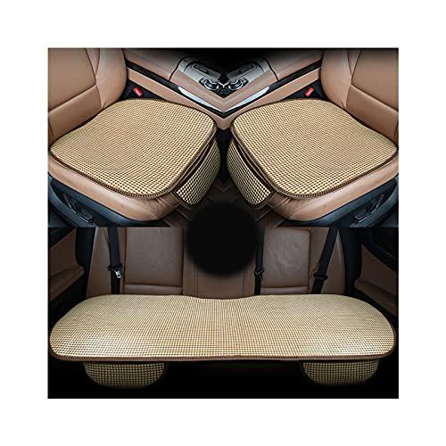 ZEIYUQI Cuscino per Seggiolino Auto,Cuscino per Coprisedile in Rattan,Cuscino per Sedile Universale per Auto,Tappetino per Cuscino Estivo per Sedile Anteriore/Posteriore Automatico,A