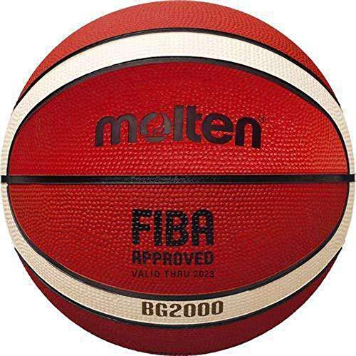 Balón molten B5G2000 - Balón de Baloncesto, Color Naranja y Marfil