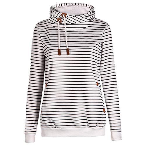 Sudadera con capucha para mujer con bolsillo de felpa para otoño e invierno engrosamiento