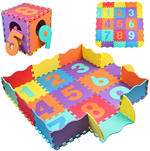 StillCool Baby Play Mat with Fence 0 39 inch Thick Interlocking Foam Floor Tiles Kids Puzzle product image