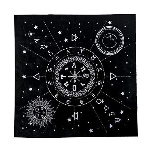 Greatideal Tovaglia Quadrata Tarocchi Speciali 12 Costellazioni Astrologia Tarocchi Divinazione Carta Tovaglia per Gli Appassionati Consiglieri psicologici Maghi