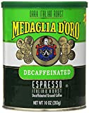 Medaglia D'Oro Italian Roast Decaffeinated Espresso Coffee, 10 Ounce (2 pack)