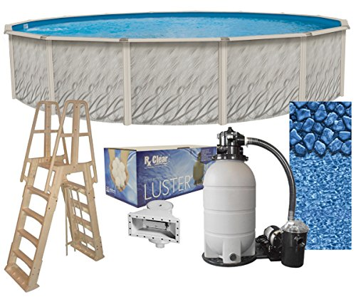 Meadows Round Above-Ground Swimming Pool Complete Bundle Kit*