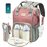 Cosyland Diaper Bag Backpack for Mom Travel Backpack Nappy Bags Large Capacity Maternity Bag with USB Charge...