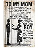 Inspirational Son To Mom Vertical Poster Best Gift For Mom Posters Family Friend Gift Unisex, Awesome Birthday Perfect Happy Birthday Gift Decor Bedroom, Living Room Print High Quality 24'X36'