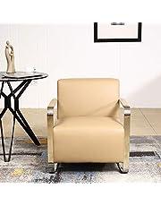 Bristole PU Leather Design Chair, Beige - 73H x 68W x 76D cm