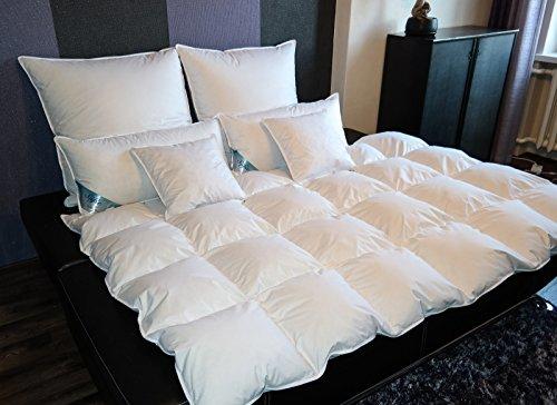 TM Maxx Kasetten Federdecke Ganzjahresdecke Bettdecke • Größe und Füllung zur Auswahl (135x200cm, 1600g)